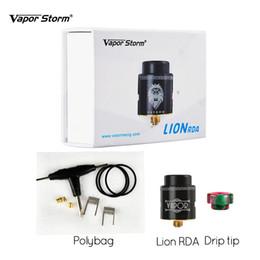 Паровая буря Лев RDA электронные сигареты DIY Vape атомайзер 24 мм внутренняя структура 3 этапа управления воздушным потоком 510 резьба двухъядерные катушки от
