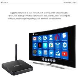 Wholesale Case Youtube - X98 Pro Amlogic S912 Octa Core 2+16gb 3 32gb Android 7.1.2 Smart tv box Bluetooth 5G Dual Wifi Metal Case