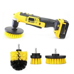 Wholesale flooring bathrooms - 3pcs set Power Scrubber Brush Set for Bathroom | Drill Scrubber Brush for Cleaning Cordless Drill Attachment Kit Power Scrub Brush