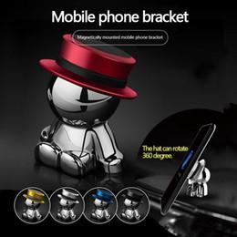 Telefonhalter auto mann online-360 ° Rotation Magnetic Phone Holder Air Vent Magnetische Universal Car Mount Handy Ständer Halter Dash Hat Man