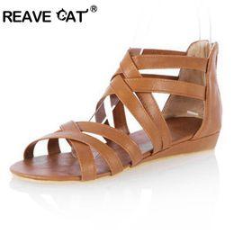 ea3a153fa size cute sandals Promo Codes - REAVE CAT Big size 34-43 Gladiator Summer  Women