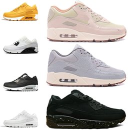 newest a40bb e1994 Nike Air Max 90 image réelle voir description Mens 90 90 Sneakers Shoes  Classic 90s Hommes Femmes Chaussures de course en gros noir blanc Sports  Trainer ...
