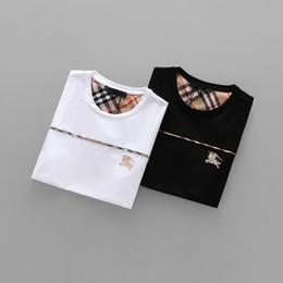 Wholesale printed flannel - 2018 Summer New Men's Casual Slim Fit Mens Plaid Printed Designer Loose Embroidery Short Sleeved Flannel 3d T Shirts Medusa Hip Hop