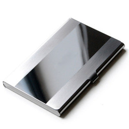 2019 casos de tablet animal 2017 Moda Caso de Cartão de Visita de Metal Caixa de Bolso À Prova D 'Água de Aço Inoxidável Caixa de Bolso de Negócios ID Titular do Cartão de Crédito Tampa de Presentes de Aniversário