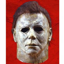 augenpflege tropfen Rabatt 2018 Heißer Film Halloween Horror Michael Myers Maske Cosplay Erwachsenen Latex Full Face Helm Halloween Party Scary Requisiten spielzeug