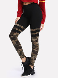 Wholesale Camouflage Graphics - 2018 New Fashion Sport Gym Pants Camo Graphic Print Woman Skinny Stretchy Women Leggings Yoga Girl Camouflage Fitness Soft Trousers