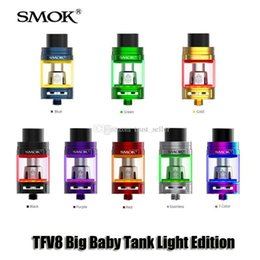 Wholesale Light Edition - 100% Original SMOK TFV8 Big Baby Tank Light Edition 5ml Top Filling Airflow Control Atomizer For 510 thread Box Mod Genuine Smoktech