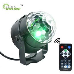 Wholesale Led Magic Ball Remote - LEDSONLIN Party Disco DJ Light Holiday Projector EU US LED RGB Crystal Mini Magic Ball Stage Effect Lights with Remote Control