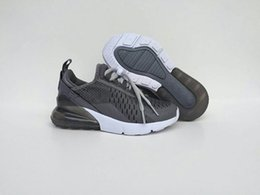 Wholesale Childrens Purple Shoes - (With Box)High Quality kids Flair Triple Black 270 Trainer Sports Running Shoes Childrens 270 Sneakers Size 28-35