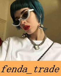 Wholesale Sexy Lens - 2018 Newest Sexy Cat Eye Half frame Sunglasses Women Brand Designer Lady Sun Glasses For Female Vintage Shades Eyewear UV400 5185 no logo