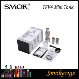 2019 smok tfv4 mini Liquidación de venta! SMOK TFV4 Mini Tank 3.5ML con 8 innovadores TF-Head Más compacto diseño de TFV4 Tank Produce Purer Flavor 100% Original smok tfv4 mini baratos