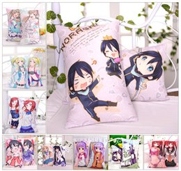 Wholesale Japanese Anime Fabrics - Zone-3 Moeyu Anime 24PCS Japanese Otaku Hugging Body Pillow Case Pillow Cover Bedding Pillowcase Cushion 2WAY Fabric 35*55cm