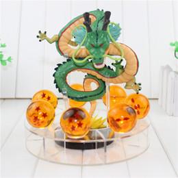 Wholesale Dragon Pvc - 15cm Dragon Ball Z Action Figures Shenron Dragonball Z Figures Set Esferas Del Dragon+7pcs 3.5cm Balls+Shelf Figuras DBZ