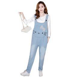 Plus Size 5xl Casual Loose Denim Jean Bib Work Garden Pregnant Harem Overalls Jumpsuits Sleeveless Romper Ankle Length Jeans Bottoms Women's Clothing