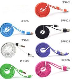 2019 провод для зарядки сотового телефона Оптовая сотовый телефон данных плоский провод USB кабель многоцветный Micro USB кабель лапши зарядки данных плоские тонкие шнуры синхронизации для Android DFW скидка провод для зарядки сотового телефона