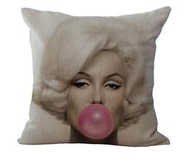 Wholesale Beauty Dreams - Marilyn Monroe Dream Of Chewing Gum Beauty Decorative Pillows Case Cover Fiber Emoji Enjoyment Home Decor
