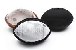 Moule à glace en silicone de football américain Ice Cube Chocolats moule Crème glacée Outils fabricant de boule à glaçons bleu noir ? partir de fabricateur