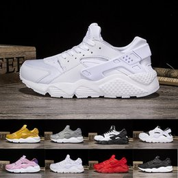 Wholesale Deep Online - 2018 Cheap high quality triple black white huaraches 1 man shoes Sneakers Shoes sports shoes For online sale free shippping size 36-45