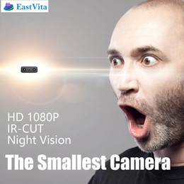 Wholesale Micro Camera Motion Detection - EastVita XD Newest IR-CUT Camera Smallest 1080P Full HD Mini camera Micro Infrared Night Vision Camcorders Motion Detection DV
