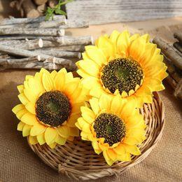 diy hochzeit korsagen Rabatt 2018 sonnenblumen blüte künstliche blumen DIY blume ball fotografie requisiten dekoration hochzeitsdekoration corsage