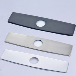 """Wholesale Fitted Bathrooms - Chrome Finish 10"""" Bathroom Kitchen Sink Faucet Hole Cover Deck Plate Escutcheon Free Shipping"""