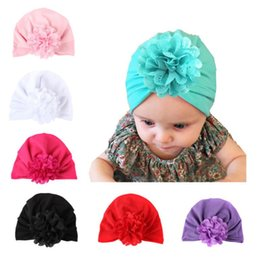 Wholesale Head Wrap Toddler - Baby Hats Bohemiah Flower Caps Girls Knot India Turban Kids Fashion Head Wraps Toddler Winter Beanie Xmas Headwear Photography Props