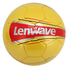 Lenwave Brand Yellow Pu Soccer Balls Size 5Champions League Ball Match Kids Training  Football Ball 6fa5286039a91