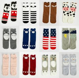 tights for toddlers Promo Codes - Cute Animal Kids Stockings for Girls Cartoon Tights Warm Cotton Children Baby Stocking Toddler Pantyhose 23-Styles 0-6T