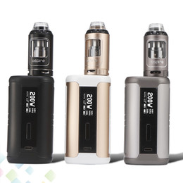Wholesale top ecig batteries - Authentic Aspire Speeder Kit with 200W Vape Mod and 4ml Top Refilling Athos Tank Atomizer Ecig fit 18650 Battery DHL Free