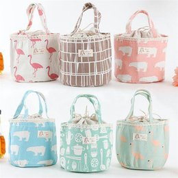 Wholesale Thermal Clothing Fabric - New portable animal heat preservation bags waterproof cartoon lunch bag fashion outdoors travel storage bag T3I0001