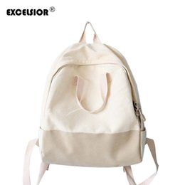 EXCELSIOR 2018 Hot Sale Korean Version Solid Backpack Colorful Canvas  Women s Backpack Couple School Bags G1717 6288b09eff9bb