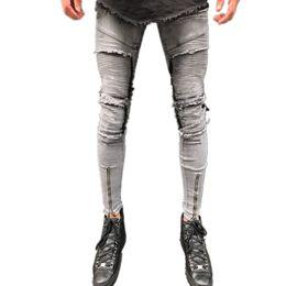 2019 macacões famosos 2018 Famosa Marca Designer Homens cinza Jeans Medo De Deus Jeans Rasgado Azul Estrela do Rock Mens Jumpsuit Designer Denim Calças Masculinas calças macacões famosos barato
