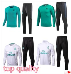 Wholesale training jogging pants - ADULTS Soccer tracksuits 2017 Best quality survetement football Marseille Real Madrid training suit jogging soccer football pant
