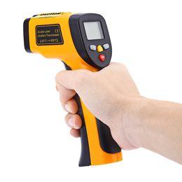 Wholesale meters temperature sensors - Digital LCD Display Non-Contact IR Infrared Thermometer Tester Laser Gun Device -50 to 850 Degree Auto Temperature Meter Sensor Gun Handheld