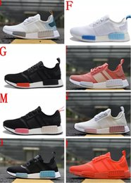 Wholesale cheap black snow boots - 2018 Wholesale Discount Cheap NMD Runner Primeknit Sales White Red Blue NMD Runner Sports Shoes Men Woman NMD Running Boost with Box