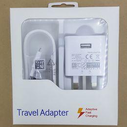 paredes de alfinete Desconto 3 em 1 9v1.67A 5v2A rápido UK plug carregador rápido kit de viagem adaptador power dock 3 pin pés de metal viajar carregador de parede para samsung huawei móvel