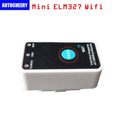 Wholesale Land Rover Ids - Super Mini ELM327 Wifi OBDII CAN Code Reader with Switch work for mobile phone ID: CTE027