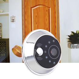 espectador de la puerta timbre de la cámara de seguridad Rebajas 2.4 Pantalla LCD TFT Visor de ojos digital Cámara de video Teléfono de la puerta, monitor de interfono Interfono Altavoz Timbre de seguridad para el hogar