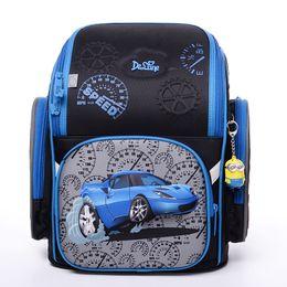 Wholesale Car Backpacks - High Quality New 2-6 Grade Children School Bags For Boys 3D Racing Car Motorcycle Pattern Waterproof Orthopedic Backpack