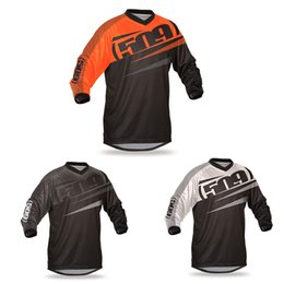 Wholesale 4xl Motorcycle Jersey - 2018 motorcycle Motocross racing Breathable Motocross Jersey Motocross Mx Mtb Dh Shirt ATV Riding Gear Adult Jersey