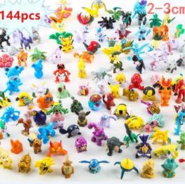 144 Pçs / lote 2-3 CM crianças Pikachu Action Figure Brinquedos Japonês Dos Desenhos Animados Anime Mini Coleções Presentes de Aniversário Dos Desenhos Animados boneca brinquedo de