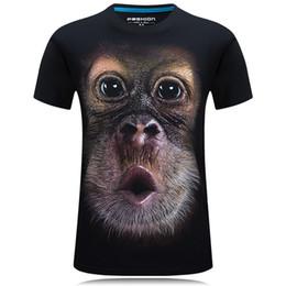f97b0b52b ... Men's Brand Funny Clothing O-neck Short Sleeve Animal T-shirt Monkey  lion 3d Digital Printed T Shirt Homme Large Size 5xl funny monkey t shirts  outlet