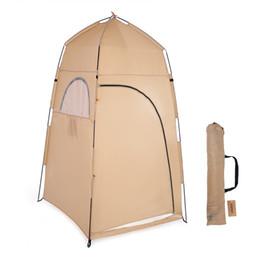 Tentes de chambre en Ligne-TOMSHOO Portable Douche Extérieure Bain Cabine d'essayage Abri de tente Camping Plage Confidentialité Toilette