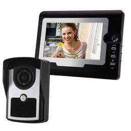 Wholesale Doorbell Intercom Vision - 7 Inch Color LCD Video Door Phone Intercom System Door Release Unlock Doorbell HD Camera With infrared night vision