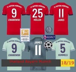2018 2019 Bundesliga Soccer Bayern Munich Jersey Men 9 LEWANDOWSKI 10  ROBBEN 11 JAMES 25 MULLER 5 HUMMELS Football Shirt Red Green affordable  bundesliga ... 92e3781f7