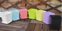 2019 vasetti da giardino in ceramica all'ingrosso Mini vasi di fiori con telaio Fiori di plastica colorati Vasi per fiori Fioriera per la decorazione di Gerden Home Office Desk Planting DHL