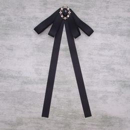 Wholesale British Bowtie Style - NEW Women bowtie British style Butterfly Women's Bow Tie fashion Female bowknot Girl Hotel Waitress Neck Wear Ribbon Ties