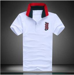 Wholesale Men High Collar T Shirt - Brand designer -Luxury brand fashion trend men's cotton T shirt snake pattern Polo shirt high quality spring and summer breathable short-sle