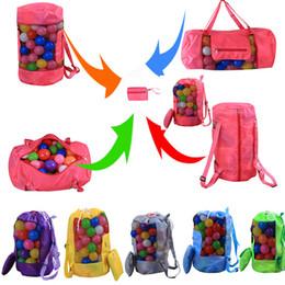 Kinder spielzeug im freien online-Kinder Strand Spielzeug Aufbewahrungstasche Kinder Falten Werkzeugnetz Tasche Für Sand Muscheln Mesh Outdoor Rucksack Sollte H48 * D24cm WX9-542