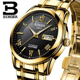 b3b0a3aeefb 2019 bg watch Suíça relógios homens marca de luxo relógios de Pulso BINGER  luminosa Automático auto